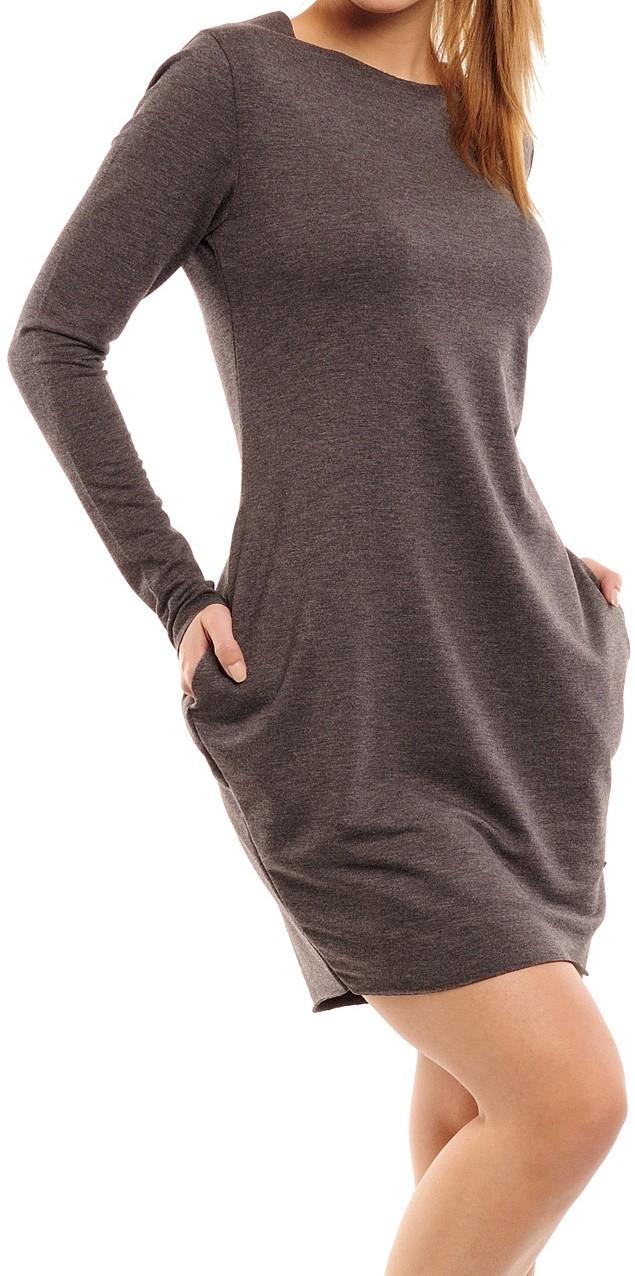 Zeta Ville Women's Long Sleeve Sport Tulip Dress With Pockets 290