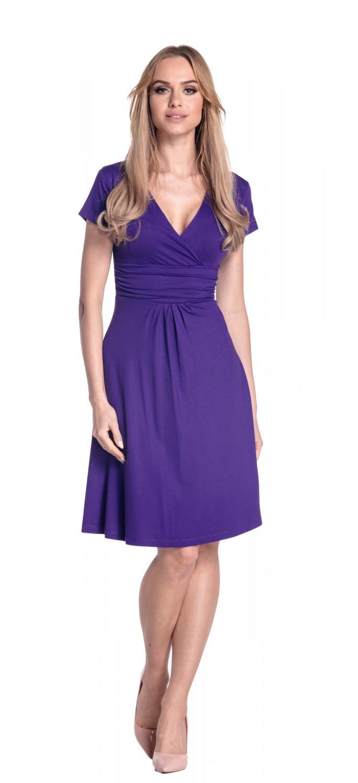 thumbnail 61 - Glamour-Empire-Women-039-s-Knee-Length-Short-Sleeve-Jersey-Skater-Summer-Dress-108