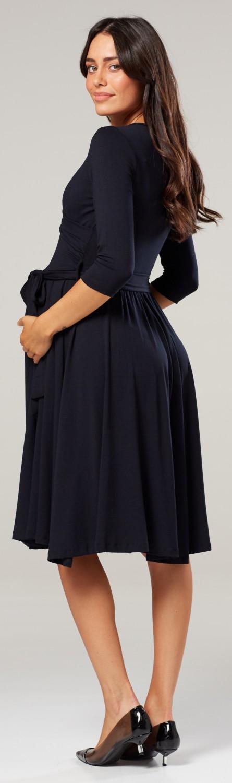 Zeta Ville Women/'s Maternity Nursing Midi Dress Double Layer 3//4 Sleeve 609p