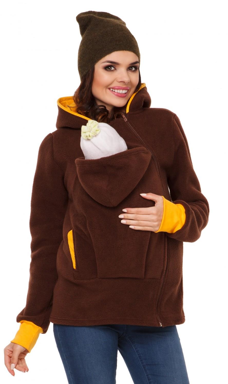 032c Women/'s Top Maternity Hooded Sweatshirt Babywearing Carrier Zeta Ville