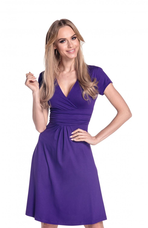 thumbnail 60 - Glamour-Empire-Women-039-s-Knee-Length-Short-Sleeve-Jersey-Skater-Summer-Dress-108