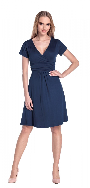 thumbnail 49 - Glamour-Empire-Women-039-s-Knee-Length-Short-Sleeve-Jersey-Skater-Summer-Dress-108