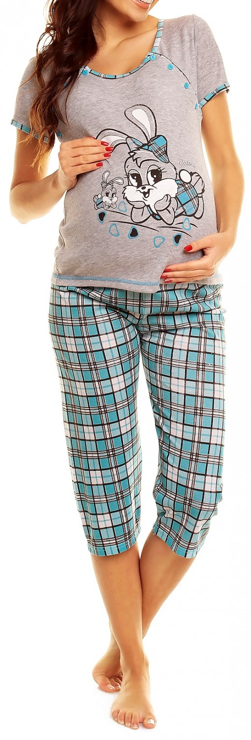 Happy Mama. Women's Maternity Nursing Breastfeeding Pyjamas Set. 006p