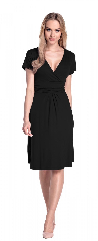 thumbnail 4 - Glamour-Empire-Women-039-s-Knee-Length-Short-Sleeve-Jersey-Skater-Summer-Dress-108