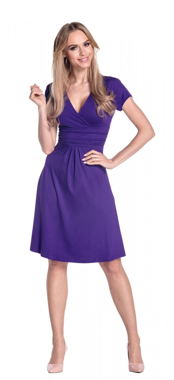 thumbnail 62 - Glamour-Empire-Women-039-s-Knee-Length-Short-Sleeve-Jersey-Skater-Summer-Dress-108
