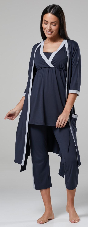 Happy Mama Women/'s Maternity Nursing Nightwear Pyjama Set//Robe//Nightshirt 237p