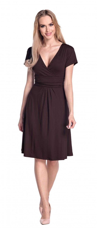 thumbnail 121 - Glamour-Empire-Women-039-s-Knee-Length-Short-Sleeve-Jersey-Skater-Summer-Dress-108