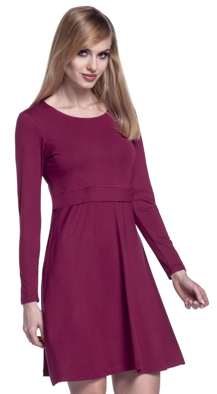 Women/'s Maternity Nursing Layered Skater Dress Happy Mama 128p Long Sleeves