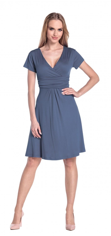 thumbnail 11 - Glamour-Empire-Women-039-s-Knee-Length-Short-Sleeve-Jersey-Skater-Summer-Dress-108