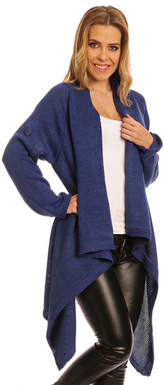 glamour empire femmes tricot chaud manteau cascade blazer long wrap cardigan 349 ebay. Black Bedroom Furniture Sets. Home Design Ideas
