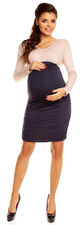 Zeta Ville Women's Maternity Pregnancy Ruched Dress Generous In Shoulders 885c