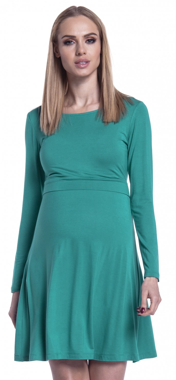 Happy Mama Women/'s Maternity Nursing Layered Skater Dress Long Sleeves 128p
