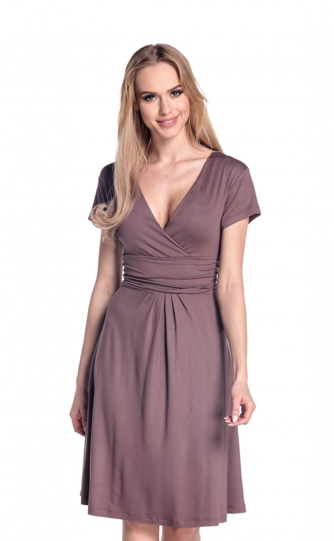 thumbnail 17 - Glamour-Empire-Women-039-s-Knee-Length-Short-Sleeve-Jersey-Skater-Summer-Dress-108