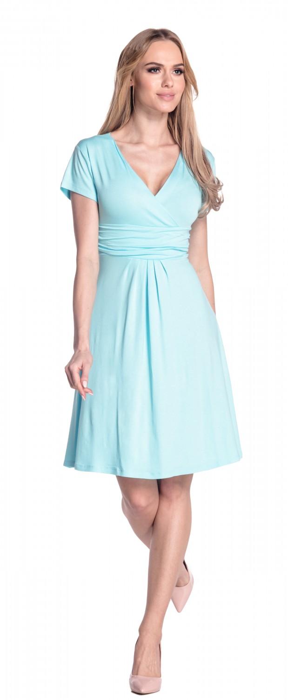 thumbnail 42 - Glamour-Empire-Women-039-s-Knee-Length-Short-Sleeve-Jersey-Skater-Summer-Dress-108