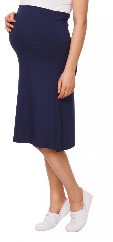 983p Happy Mama Women/'s Maternity Skater Skirt Overbump Elastic Panel Pregnancy