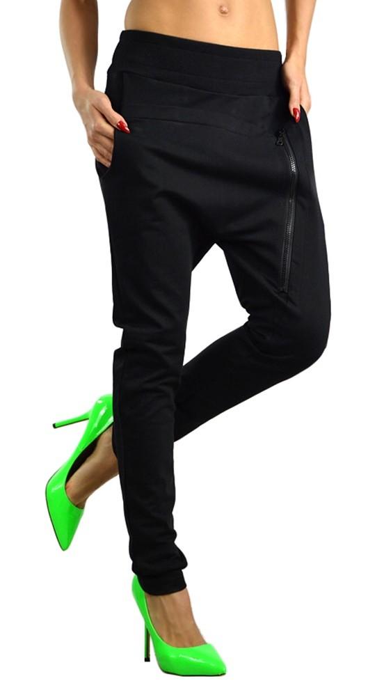 Model Black Low Crotch Pants Low Crotch Pants Baggy Pants Drop