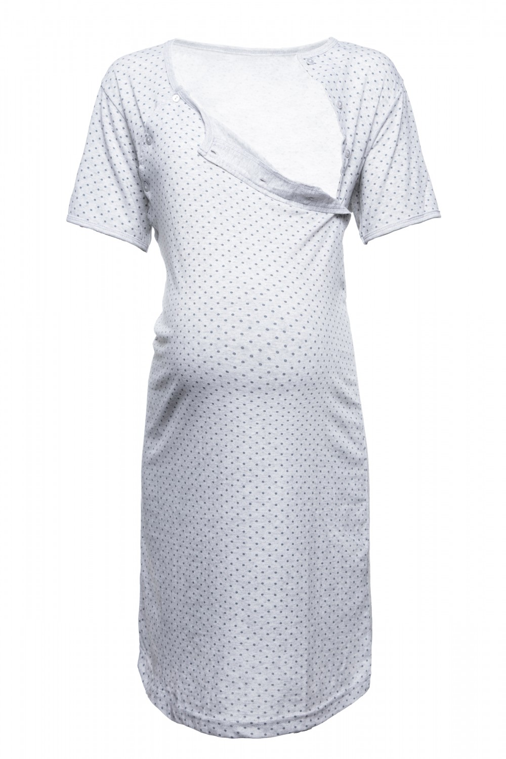 Happy mama womens maternity hospital gown nightie polka dot happy mama women 039 s maternity hospital gown ombrellifo Image collections
