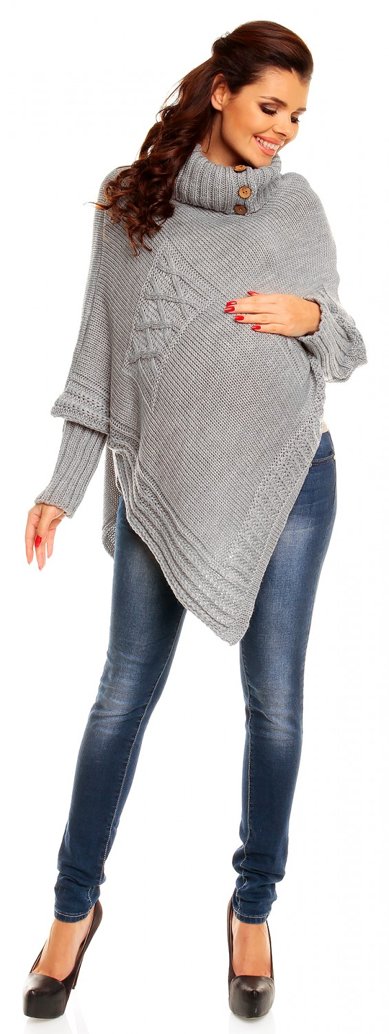 Zeta Ville Pregnancy Maternity Women's Long Sleeve Knitted Cape Poncho Top 312