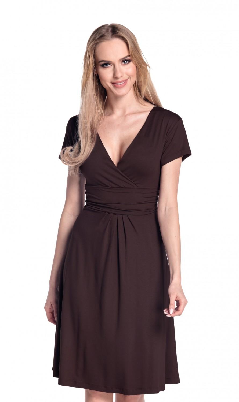 thumbnail 119 - Glamour-Empire-Women-039-s-Knee-Length-Short-Sleeve-Jersey-Skater-Summer-Dress-108