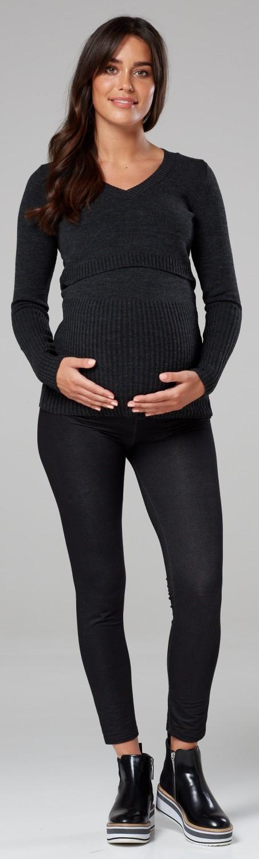Zeta Ville 454p Women/'s Maternity Nursing Jumper V-neck Long Sleeves