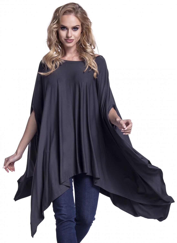 Glamour Empire. Women's Asymmetric Top Loose Long Poncho ...
