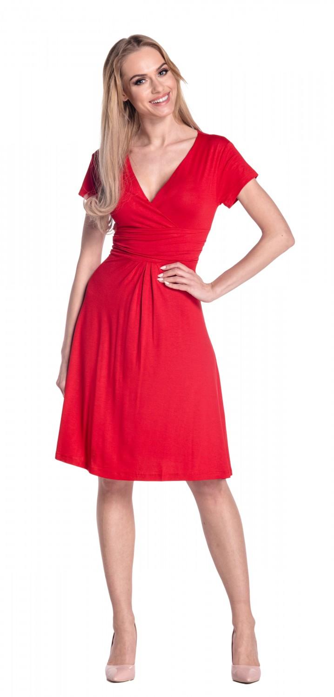 thumbnail 69 - Glamour-Empire-Women-039-s-Knee-Length-Short-Sleeve-Jersey-Skater-Summer-Dress-108