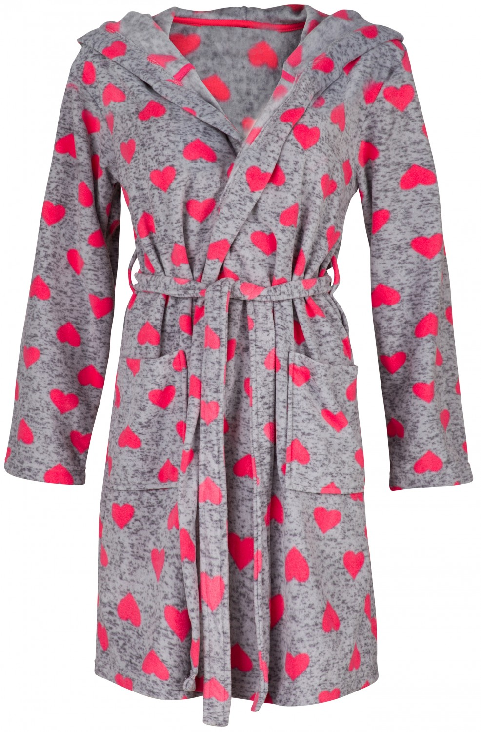Glamour Empire. Women\'s Robe Fluffy Dressing-Gown Hearts Pattern ...