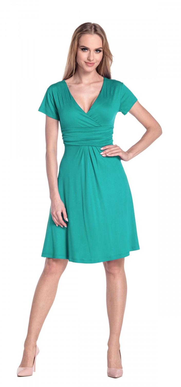 thumbnail 108 - Glamour-Empire-Women-039-s-Knee-Length-Short-Sleeve-Jersey-Skater-Summer-Dress-108