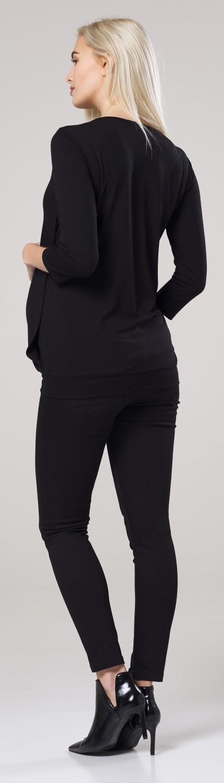 Happy Mama Women/'s Maternity T-shirt Nursing Layered Top 3//4 Sleeves 114p