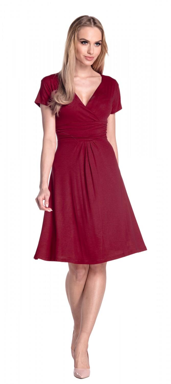 thumbnail 25 - Glamour-Empire-Women-039-s-Knee-Length-Short-Sleeve-Jersey-Skater-Summer-Dress-108