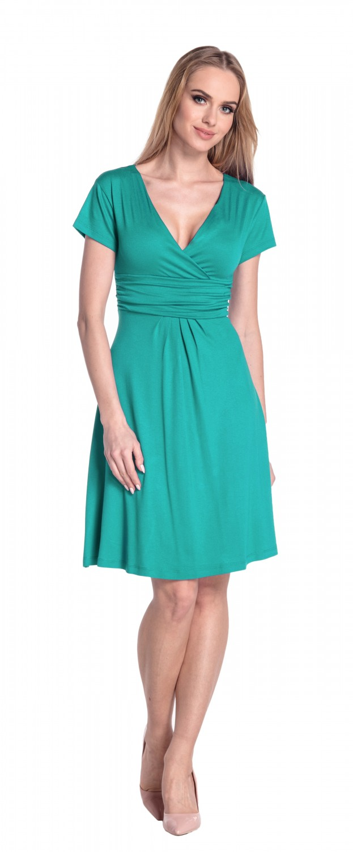 thumbnail 109 - Glamour-Empire-Women-039-s-Knee-Length-Short-Sleeve-Jersey-Skater-Summer-Dress-108