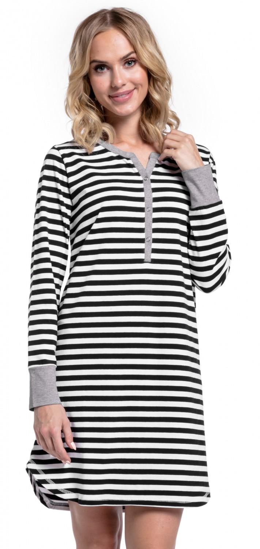 Happy-Mama-Women-039-s-Maternity-Hospital-Nightdress-Nursing-Nightie-Stripes-589p thumbnail 4