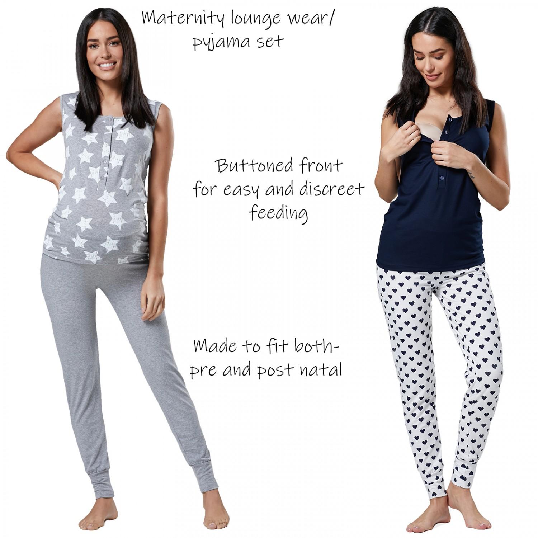 9887b718a9e13 Happy Mama. Women's Maternity Nursing Pyjama Lounge Set Tank Top ...