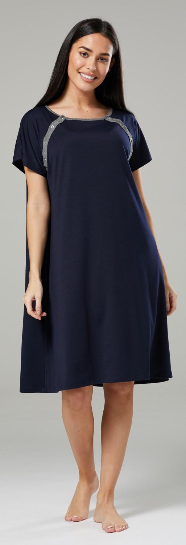 Zeta-Ville-Women-039-s-Maternity-Nursing-Delivery-Hospital-Gown-Nightshirt-536p thumbnail 12