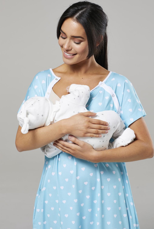 Zeta-Ville-Women-039-s-Maternity-Nursing-Delivery-Hospital-Gown-Nightshirt-536p thumbnail 61