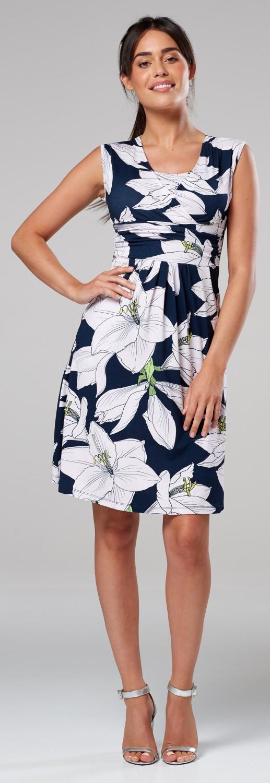 Zeta-Ville-Women-039-s-Maternity-Nursing-A-line-Dress-Pockets-Sleeveless-500c thumbnail 130