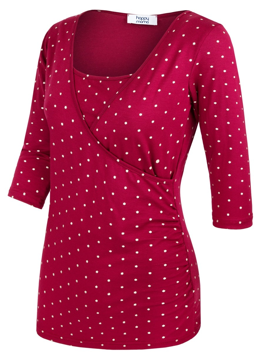 Zeta-Ville-Women-039-s-Maternity-Nursing-Double-Layer-Top-V-Neck-Shirt-160p thumbnail 21