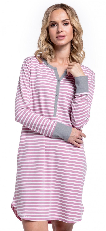 Happy-Mama-Women-039-s-Maternity-Hospital-Nightdress-Nursing-Nightie-Stripes-589p thumbnail 38