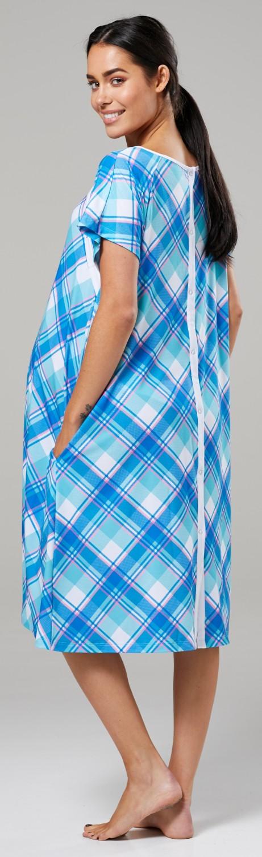 Zeta-Ville-Women-039-s-Maternity-Nursing-Delivery-Hospital-Gown-Nightshirt-536p thumbnail 28