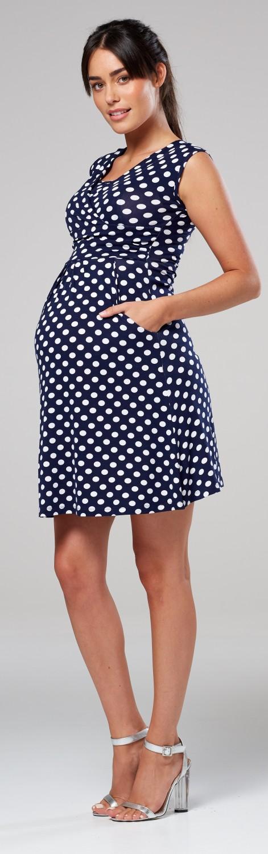 Zeta-Ville-Women-039-s-Maternity-Nursing-A-line-Dress-Pockets-Sleeveless-500c thumbnail 96