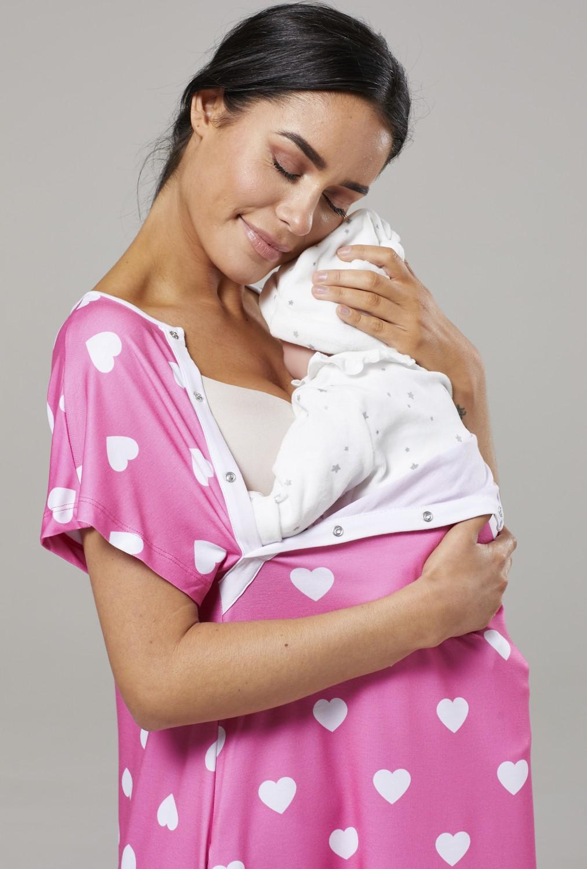 Zeta-Ville-Women-039-s-Maternity-Nursing-Delivery-Hospital-Gown-Nightshirt-536p thumbnail 69