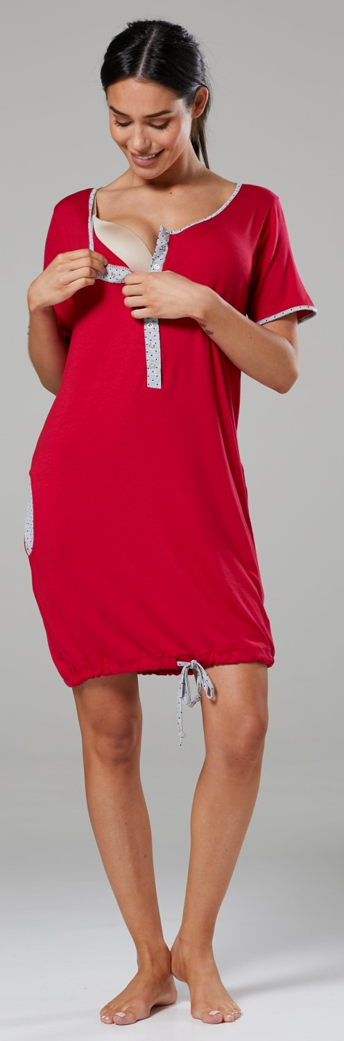 Happy-Mama-Women-039-s-Maternity-Nursing-Delivery-Hospital-Gown-Nightwear-209p thumbnail 35