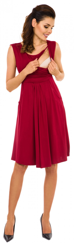 Zeta-Ville-Women-039-s-Maternity-Nursing-A-line-Dress-Pockets-Sleeveless-500c thumbnail 19