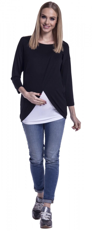 Happy-Mama-Women-039-s-Maternity-Nursing-Wrap-Top-3-4-Sleeves-Double-Layer-446p thumbnail 6