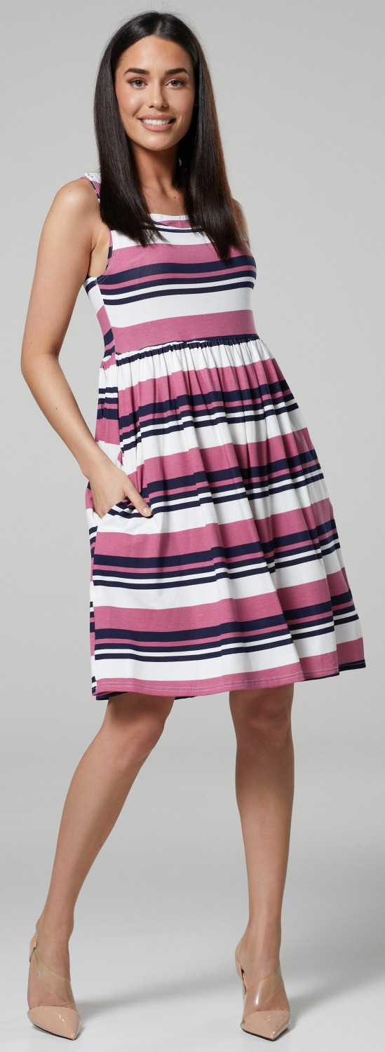 HAPPY-MAMA-Women-039-s-Maternity-Nursing-Pleated-Cocktail-Print-Dress-Sleeveless-103 thumbnail 80