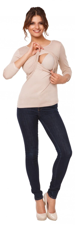 Happy-Mama-Women-039-s-Maternity-Nursing-Double-Layered-Top-Round-Neckline-988p thumbnail 5