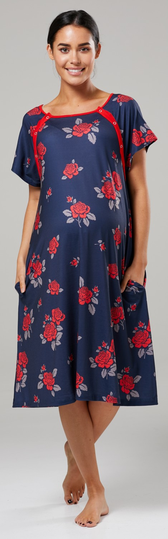 Zeta-Ville-Women-039-s-Maternity-Nursing-Delivery-Hospital-Gown-Nightshirt-536p thumbnail 49