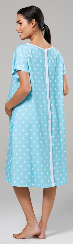 Zeta-Ville-Women-039-s-Maternity-Nursing-Delivery-Hospital-Gown-Nightshirt-536p thumbnail 62
