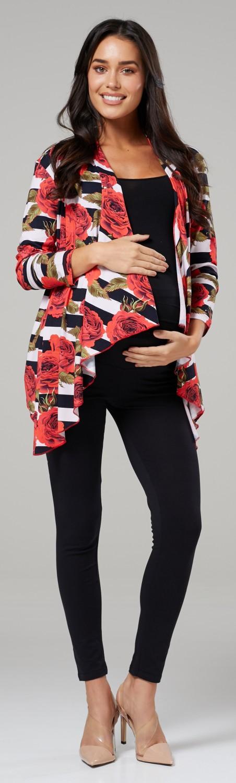 Zeta-Ville-Women-039-s-Pregnancy-Maternity-Waterfall-Jacket-Cardigan-Blazer-Top-320c