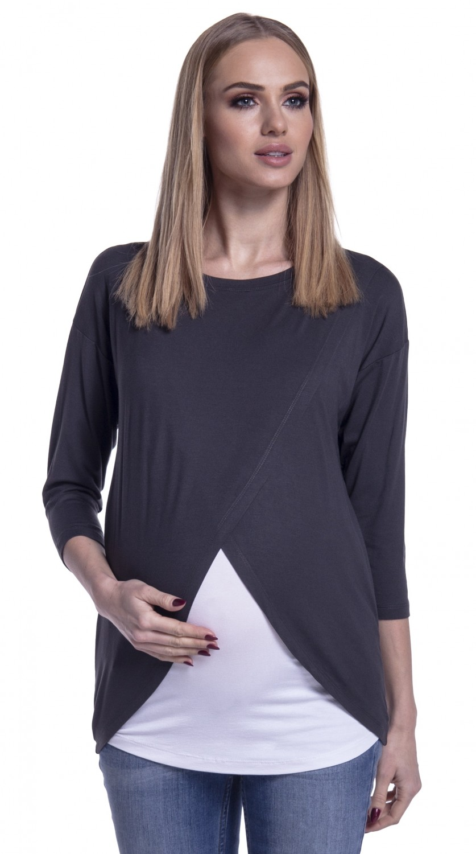 Happy-Mama-Women-039-s-Maternity-Nursing-Wrap-Top-3-4-Sleeves-Double-Layer-446p thumbnail 17
